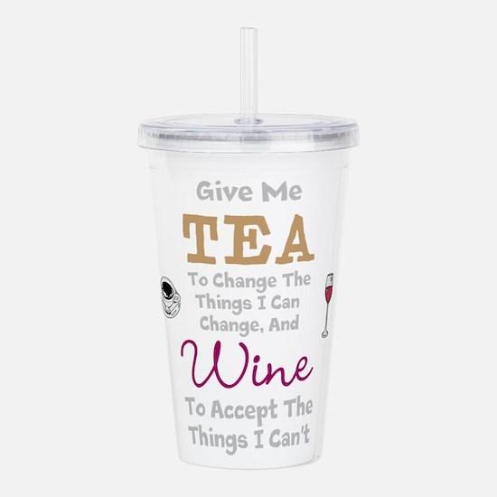 Tea and Wine Acrylic Double-wall Tumbler