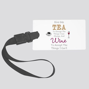 Tea and Wine Luggage Tag