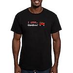 I Love Gardens Men's Fitted T-Shirt (dark)