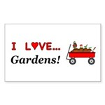 I Love Gardens Sticker (Rectangle 10 pk)
