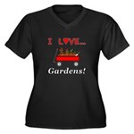 I Love Garde Women's Plus Size V-Neck Dark T-Shirt