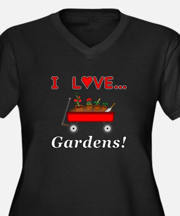 I Love Garde Women's Plus Size V-Neck Dark T-Shirt