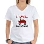 I Love Gardens Women's V-Neck T-Shirt