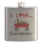 I Love Gardens Flask