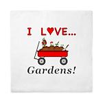 I Love Gardens Queen Duvet