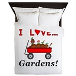I Love Gardens Queen Duvet
