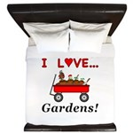 I Love Gardens King Duvet