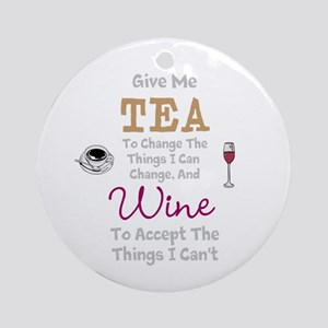 Tea and Wine Round Ornament