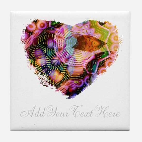 Wild Heart with Your Text Tile Coaster