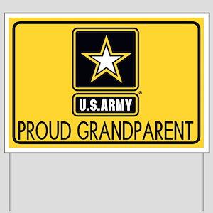 U.S. Army: Proud Grandparent (Gold) Yard Sign