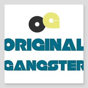 """OG Original Gangster Square Car Magnet 3"""" x 3"""""""