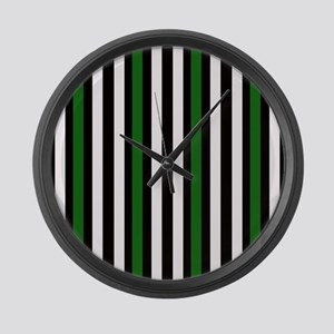 Black and Green with White Large Wall Clock