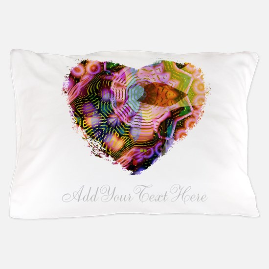 Wild Heart with Your Text Pillow Case