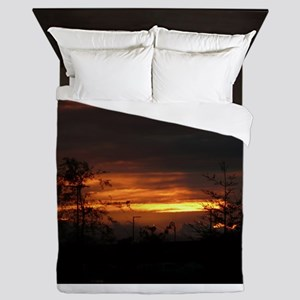 sunrise dawn in Robertsville San Jose Queen Duvet