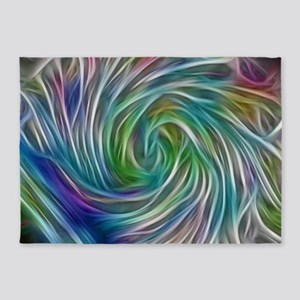 grafitti whirlpool 5'x7'Area Rug