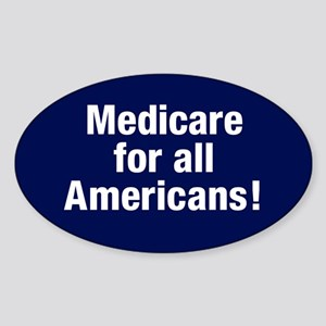 Medicare For All Americans Oval Sticker