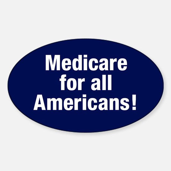 Medicare For All Americans Oval Decal