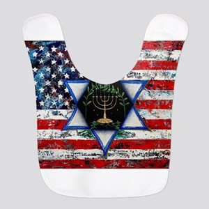 United With Israel Polyester Baby Bib