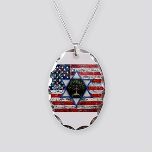 United With Israel Necklace Oval Charm