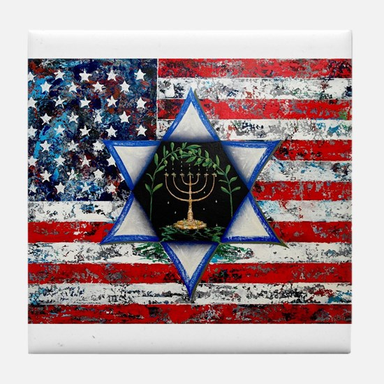 United With Israel Tile Coaster