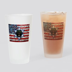 United With Israel Drinking Glass