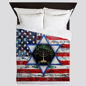 United With Israel Queen Duvet
