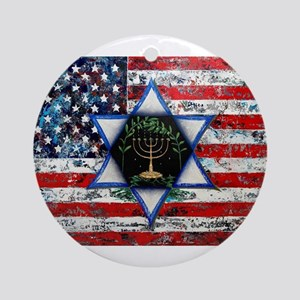 United With Israel Round Ornament
