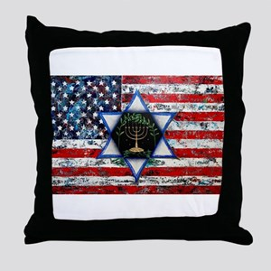 United With Israel Throw Pillow