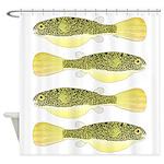 Mbu Giant Freshwater Puffer fish Shower Curtain