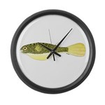Mbu Giant Freshwater Puffer fish Large Wall Clock