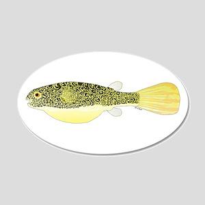 Mbu Giant Freshwater Puffer fish Wall Decal