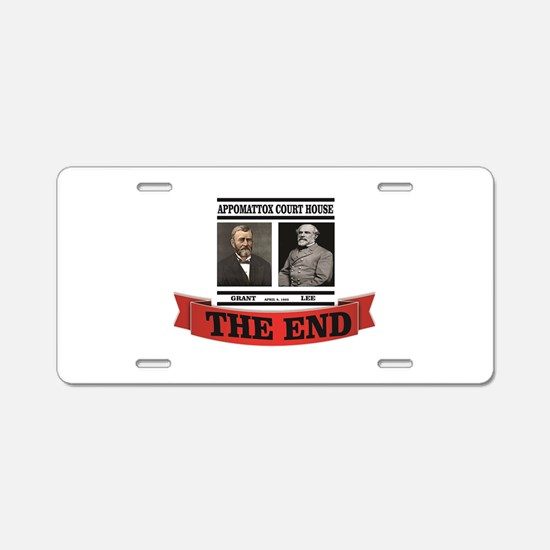 the end at appomattox Aluminum License Plate