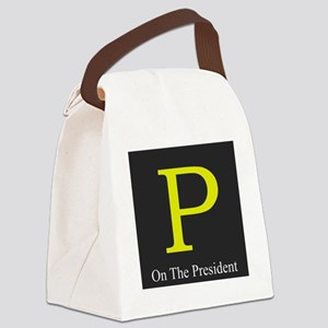 P on the President 1 Canvas Lunch Bag