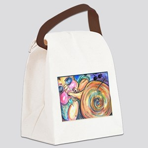 Jazz, blues, trumpet player Canvas Lunch Bag