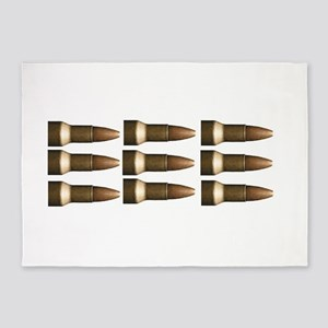 rows of bullets fun 5'x7'Area Rug