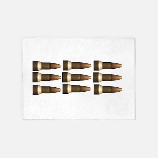 rows of bullets fun 5'x7'Area Rug