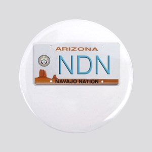 "Navajo Nation NDN plate 3.5"" Button"