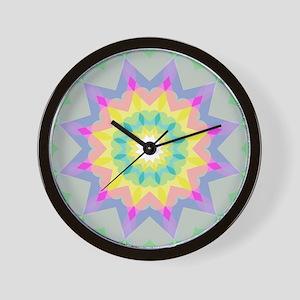 Kaleidoscope Heart Pattern Wall Clock