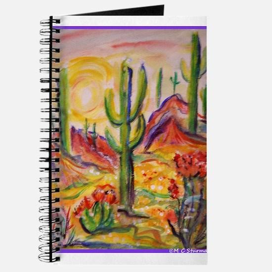 Saguaro Cactus, desert Southwest art! Journal