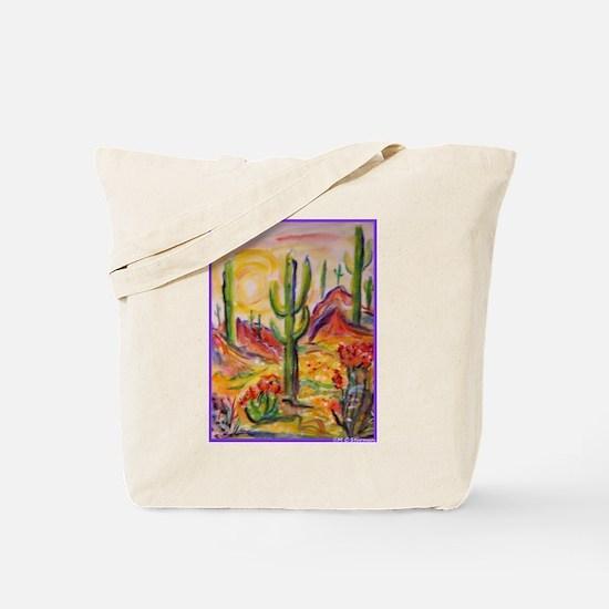 Saguaro Cactus, desert Southwest art! Tote Bag
