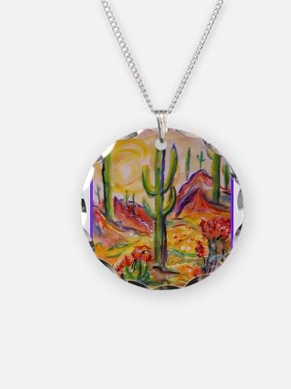 Saguaro Cactus, desert Southwest art! Necklace