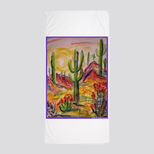 Saguaro Cactus, desert Southwest art! Beach Towel