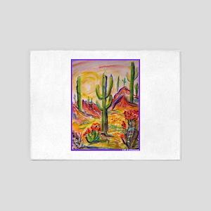 Saguaro Cactus, desert Southwest art! 5'x7'Area Ru