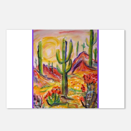 Saguaro Cactus, desert Southwest art! Postcards (P