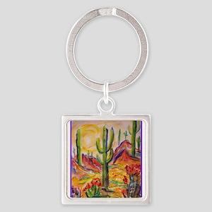 Saguaro Cactus, desert Southwest art! Keychains