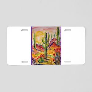 Saguaro Cactus, desert Southwest art! Aluminum Lic