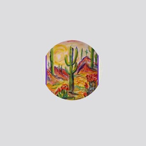 Saguaro Cactus, desert Southwest art! Mini Button