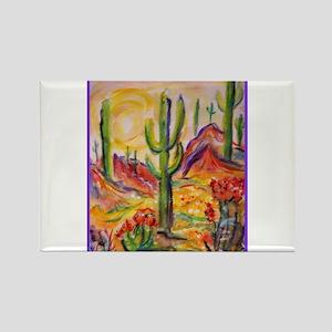 Saguaro Cactus, desert Southwest art! Magnets
