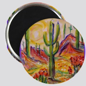 Saguaro Cactus, desert Southwest art! Magnets