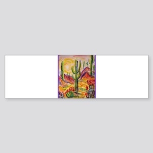 Saguaro Cactus, desert Southwest art! Bumper Stick